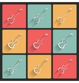 Guitar application icons in flat design for web vector image vector image