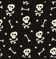 halloween seamless pattern with human skulls vector image