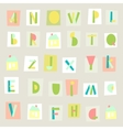 Hand Drawn Trendy Alphabet on light background