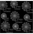 happy halloween pattern made of spider webs with vector image
