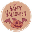 happy halloween poster with pumpkin head vector image vector image