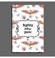 Happy new year greeting card with phoenix and vector image vector image