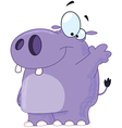 hippo waving vector image