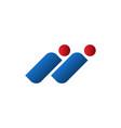 initials i letter human figure symbol design vector image vector image