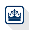 king crown flat icon vector image