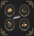 Luxury vintage frame and label for restaurant menu vector image vector image