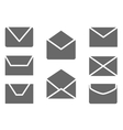 Mail message and envelope web icons set vector image