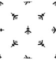 military fighter jet pattern seamless black vector image vector image