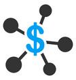 money emission flat icon vector image