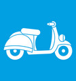motorbike icon white vector image vector image