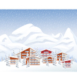 Mountain ski resort in winter vector image