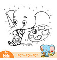 numbers game education game for children elephant vector image vector image