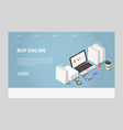 online shopping and delivery vector image vector image