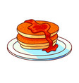 pancakes stack hand drawn vector image