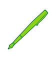pen sign lemon scribble icon vector image vector image