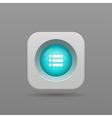 Playlist button vector image