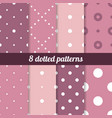 polka backgrounds collection vector image vector image
