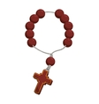 rosary nacklace cross religion icon vector image vector image