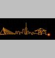 rotterdam light streak skyline vector image vector image