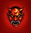 samurai head tattoo design vector image