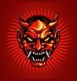 samurai head tattoo design vector image vector image
