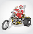 santa claus cooper bike vector image vector image