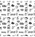 Seamless pattern with coffee design elements