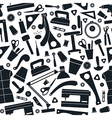 Seamless pattern with image sewing tools vector image