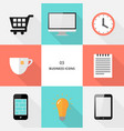 set 03 - flat design business icons vector image vector image