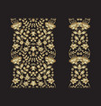 set golden lace pattern decorative elements vector image
