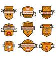 set of coal mining company emblem templates vector image