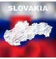 Slovak Abstract Map vector image vector image