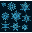 snowfalls vector image