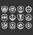 soccer club championship sport monochrome icons vector image vector image