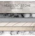 stone texture samples realistic set vector image vector image