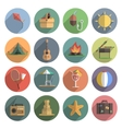 Summer Icon Flat Set vector image vector image
