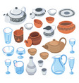 tableware for serving dishes for guests vector image