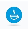 Tea cup icon Hot coffee drink sign vector image