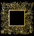 tropical gold square frame vector image