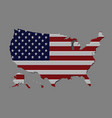 united states country with the american flag vector image