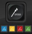 vegetarian restaurant icon symbol Set of five vector image