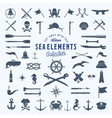 Vintage Sea or Nautical Icon Symbol vector image