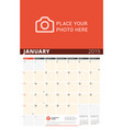 wall calendar planner for 2019 year design print vector image