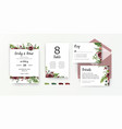 wedding stationery set invite invitation card vector image vector image