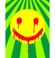 weird melting smiley vector image vector image