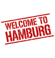 welcome to hamburg stamp vector image vector image