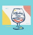 whiskey glass hand drawn scotch whiskey vector image