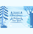 winter holiday postcard happy new year vector image