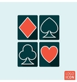 Playing cards icon isolated vector image
