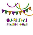 carnival mardi gras poster with colorful vector image